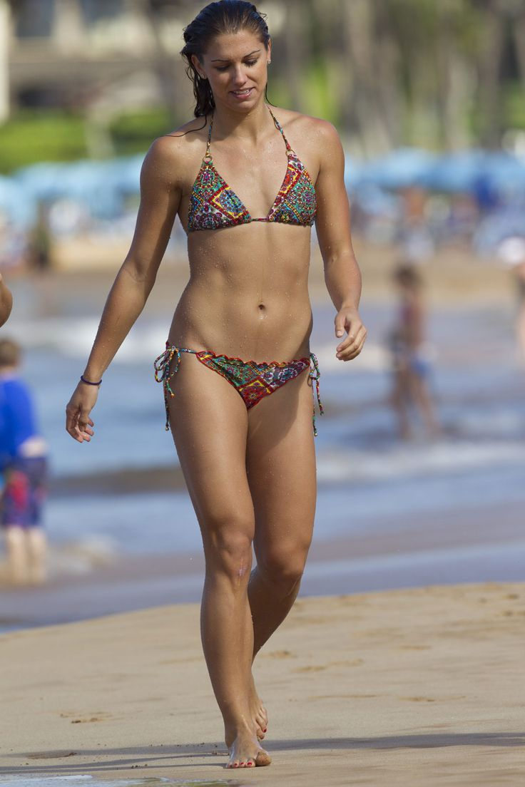 ALEX MORGAN in Bikini on the Beach in Miami