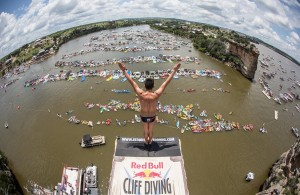 Jonathan Paredes durante Red Bull Cliff Diving_Texas 2016_Foto_Romina Amato_Red Bull Content Pool